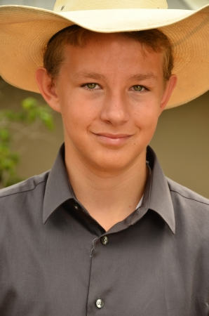 Portrait of a Young Teenage Cowboy