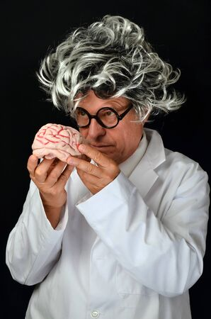 Scientist holding a  Brain Stock Photo - 14745529