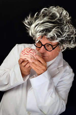 Scientist holding a  Brain Stock Photo - 14745534