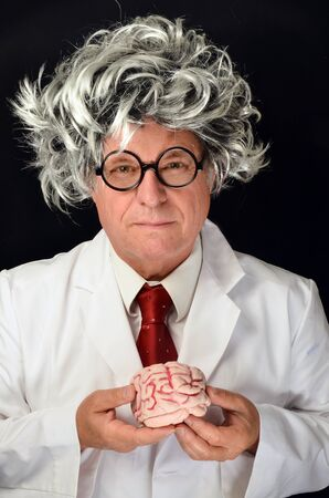 Scientist holding a  Brain Stock Photo - 14745537