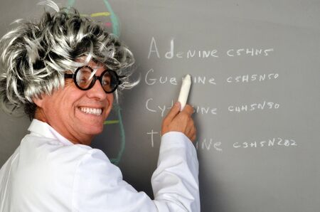 Genetic Scientist Demonstrating DNA  Zdjęcie Seryjne