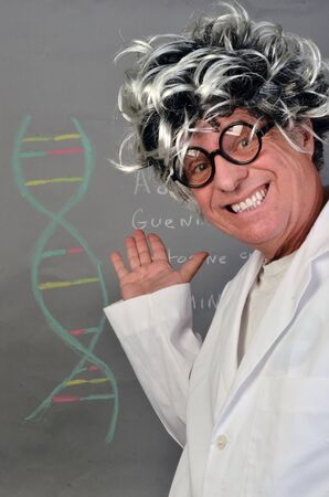 Genetic Scientist Demonstrating DNA  Stok Fotoğraf