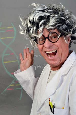 Genetic Scientist Demonstrating DNA  Stok Fotoğraf