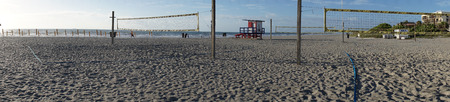 Volley ball nets on Cocoa Beach Florida