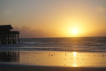 Sunrise over Cocoa Beach Florida