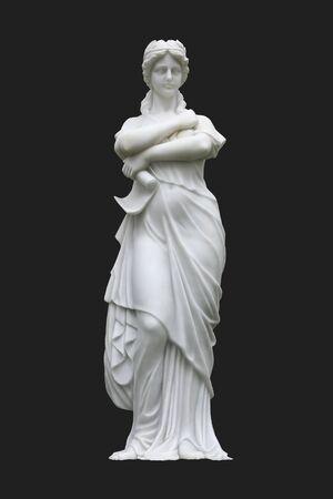 diosa griega: Estatua de Atenea Foto de archivo