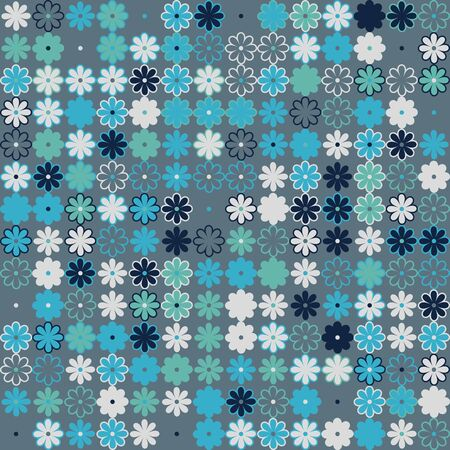 Floral pattern with colored elements, vector abstract background Illustration
