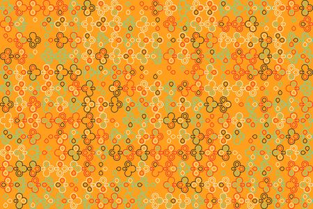 Geometric pattern with colored elements, vector abstract background