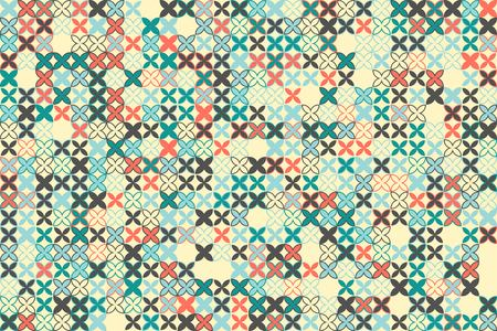 Geometric pattern with colored elements