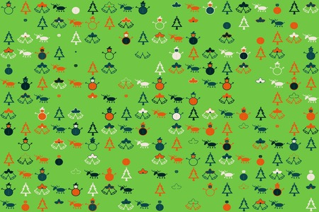 Christmas pattern with beautiful colored elements