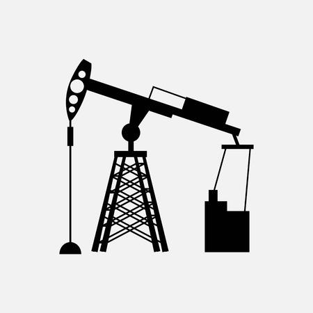 Illustration vectorielle de pompe à huile