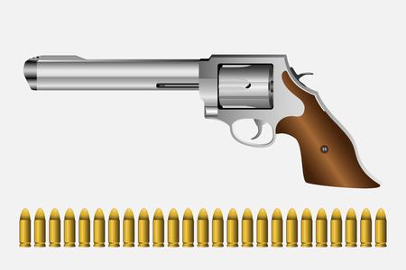 Revolver vector illustration isolated on white background