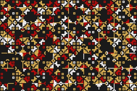 Abstract gemetric pattern with colored elements Ilustração Vetorial