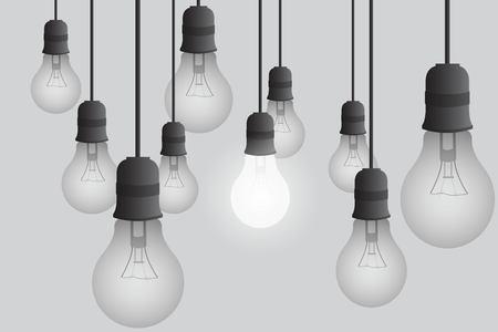 Light bulb vector illustration. Realistic light bulb isolated.