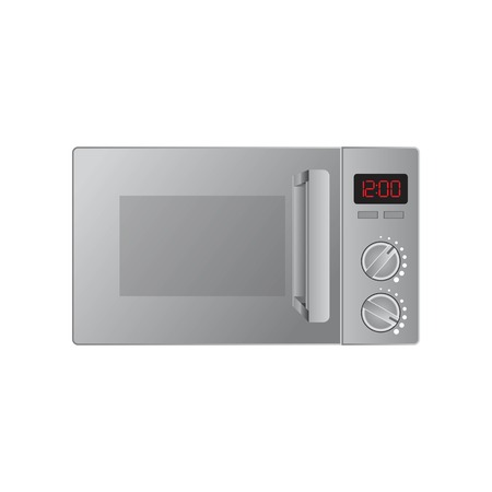 Microwave oven vector illustration isolated on white background