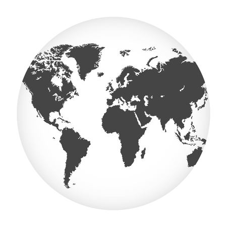 Illustration vectorielle de globe terrestre isolée