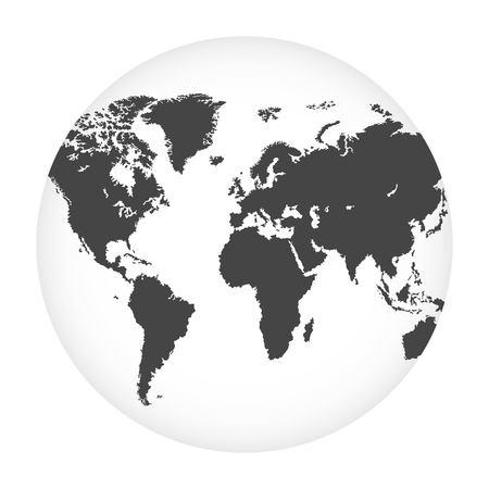 Ilustracja wektorowa kuli ziemskiej na białym tle