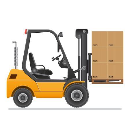 Forklift truck. Vector illustration isolated on white background. Vector Illustratie