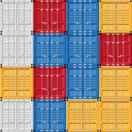 Cargo container vector illustration isolated on white background. Ilustrace