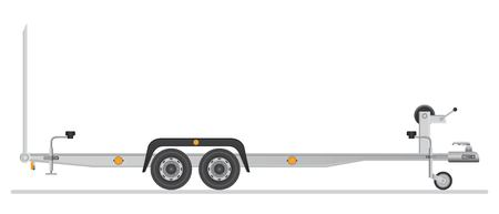 Car trailer for vehicle transportation. Vector illustration isolated on white background. Stock Vector - 122163007