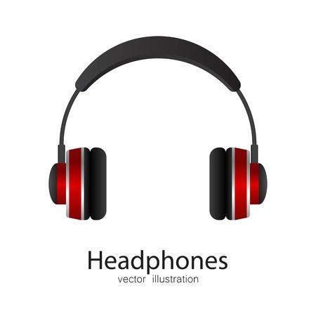 Headphones vector illustration isolated on white background Ilustração Vetorial