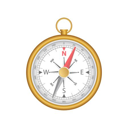 Magnetic compass vector illustration isolated on white background.