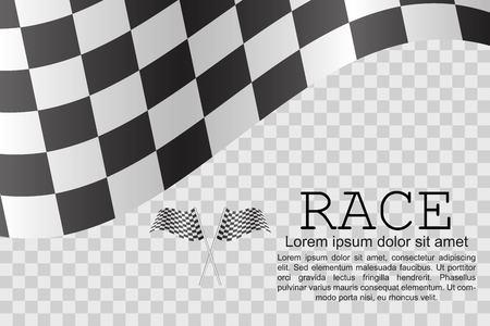 Illustration vectorielle de course drapeau fond