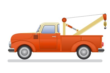 Vintage pickup truck vector illustration isolated on white background