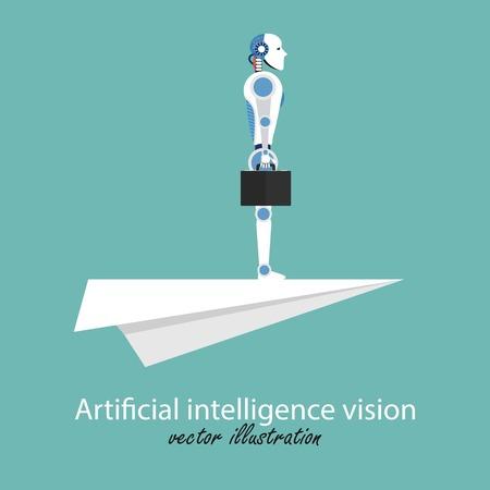 Vision concept. Symbol of leadership, business, future, progress, motivation, strategy, achievement, ambition, succes. Vector illustration in flat design.