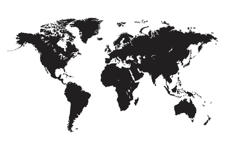 World map vector isolated. World political map. Flat earth vector illustration