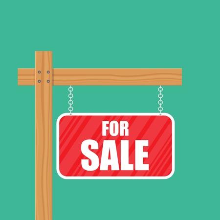 For sale sign vector illustration isolated. Ilustração