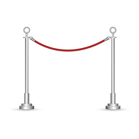 Barrier rope vector illustration isolated on white background 向量圖像