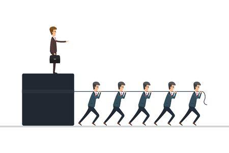 Boss concept vector illustration in flat design.