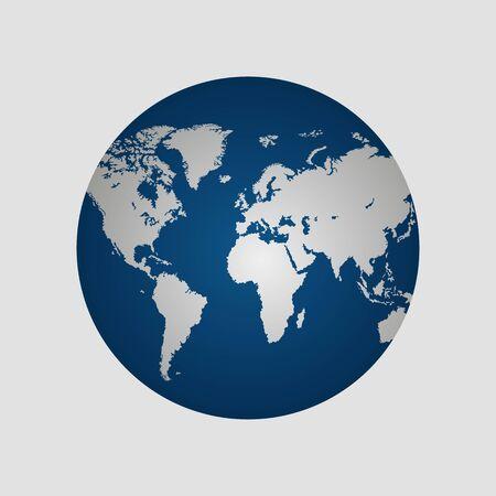 Earth globe vector illustration isolated