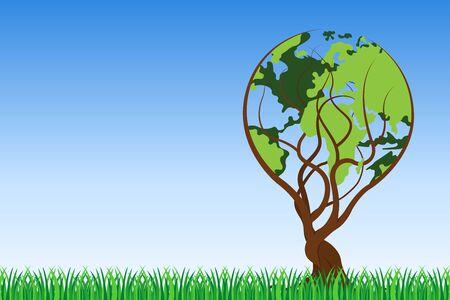 World tree background vector illustration