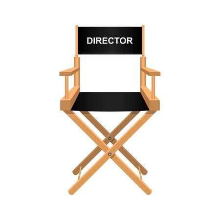 Film director chair vector illustration isolated on white background