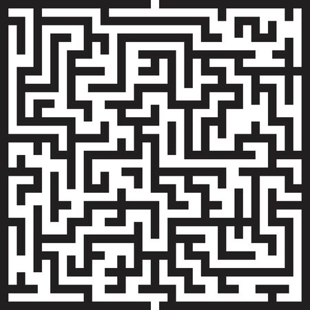 Labyrinth maze vector illustration isolated on white background
