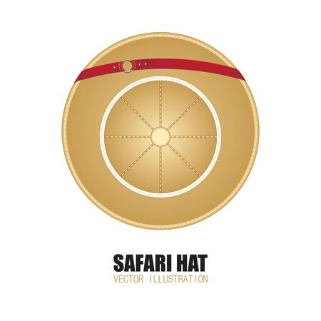 Safari hat vector illustration isolated on white background