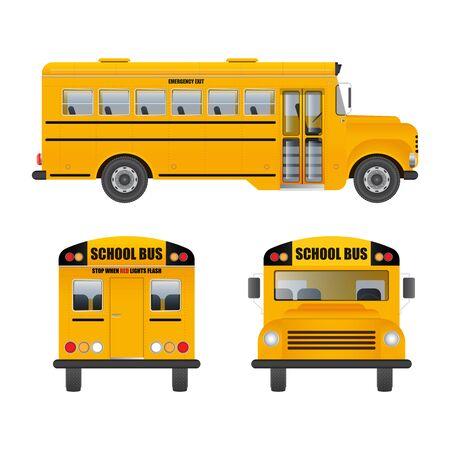 Illustration de vecteur d'autobus scolaire isolé sur fond blanc Vecteurs
