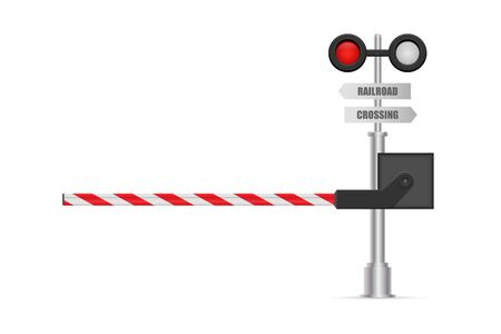 Railway barrier vector illustration isolated on white background