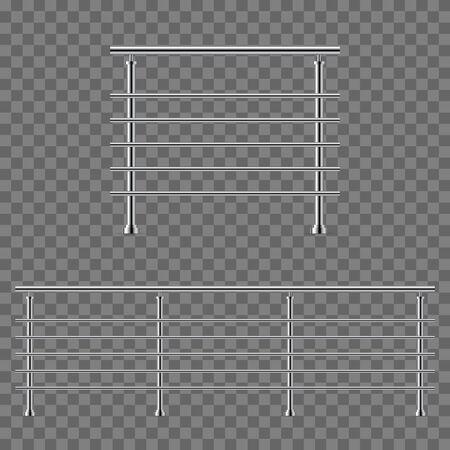 Modern railing vector illustration isolated Ilustração