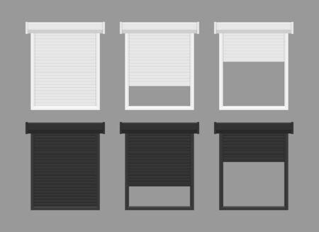 Windows roller shutters vector illustration isolated Vektorgrafik