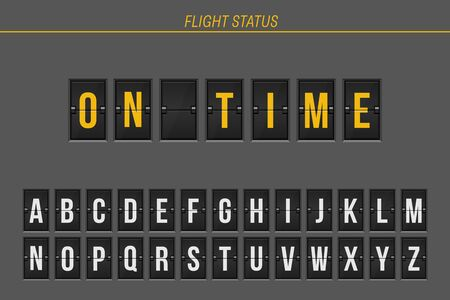 Flight information of arrival or departure status