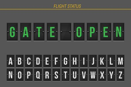Flight information of arrival or departure status