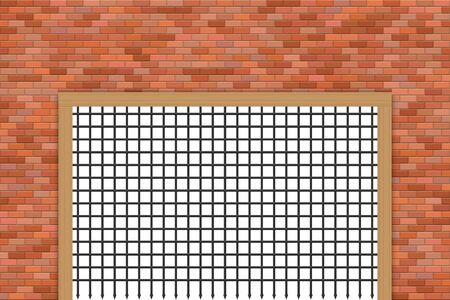 Medieval castle gate and brick wall vector illustration 矢量图像