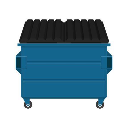 Dumpster vector illustration isolated on white background Vettoriali
