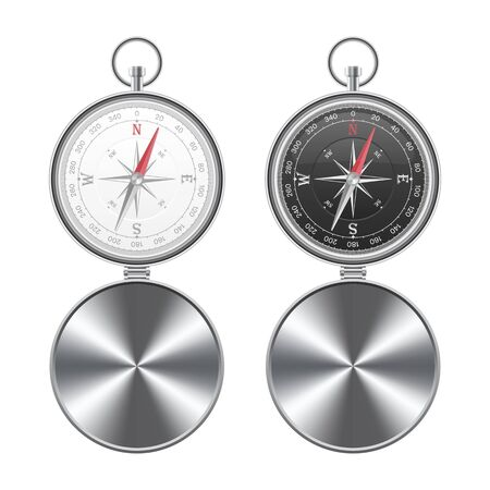 Magnetic compass vector illustration isolated on white background