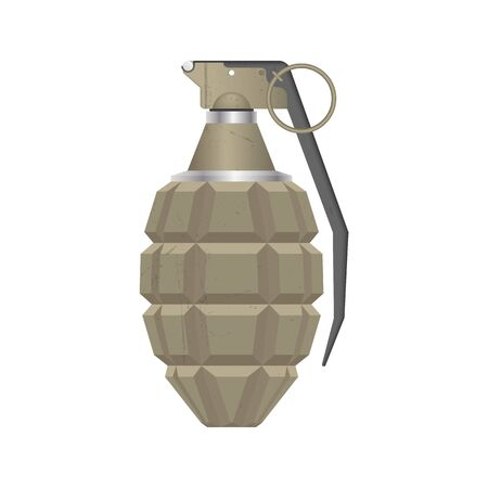 Set of realistic hand grenade isolated on white background Illustration