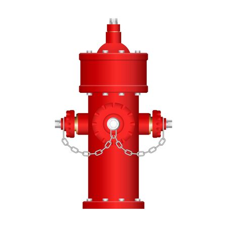 Red fire hydrant vector illustration isolated