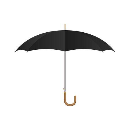 Black umbrella set vector illustration isolated